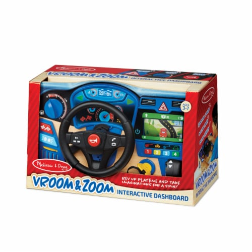 Melissa & Doug® Vroom & Zoom Interactive Dashboard Toy Perspective: front