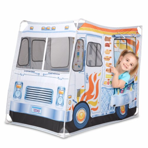 Melissa & Doug® Food Truck Play Tent Perspective: front