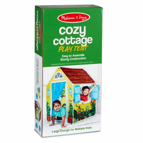 Melissa & Doug® Cozy Cottage Play Tent Perspective: front
