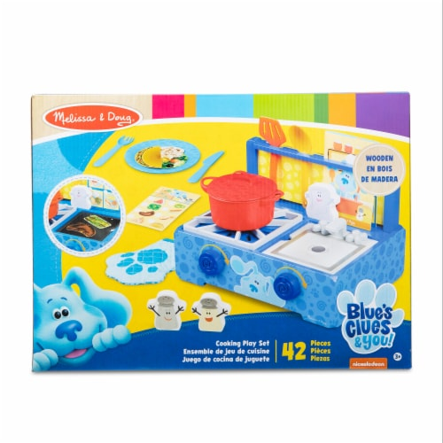 Melissa & Doug Blues Clues Cooking Play Set Perspective: front