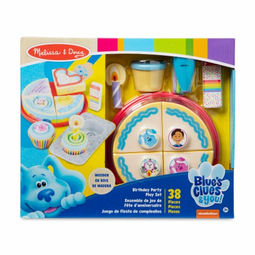 Melissa & Doug Blues Clues Birthday Party Play Set Perspective: front