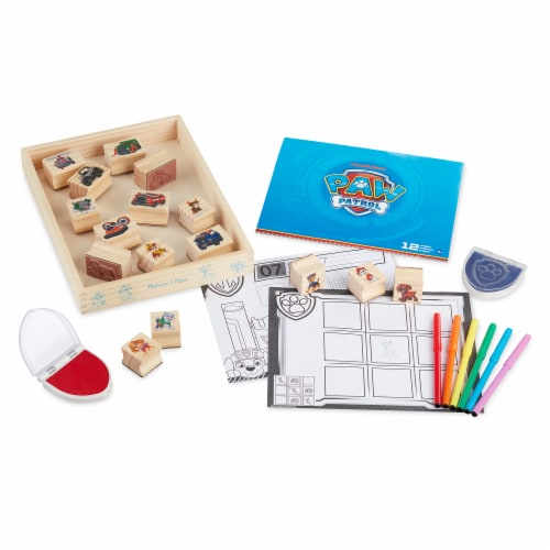 Melissa & Doug Paw Patrol Wooden Stamps Perspective: front
