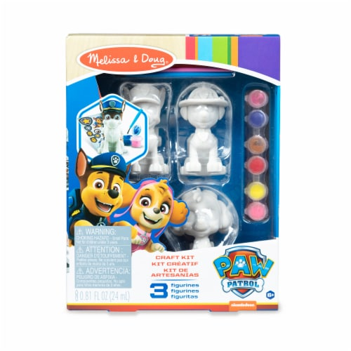 Melissa & Doug Paw Patrol Craft Pup Figurines Perspective: front