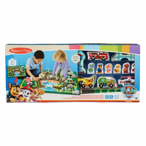 Melissa & Doug Paw Patrol Activity Rug Perspective: front