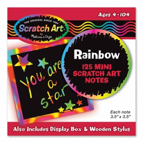 Melissa & Doug® Rainbow Mini Scratch Art Notes Bundle Perspective: front