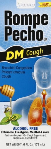 Rompe Pecho DM Cough Suppressant / Expectorant Syrup Perspective: front