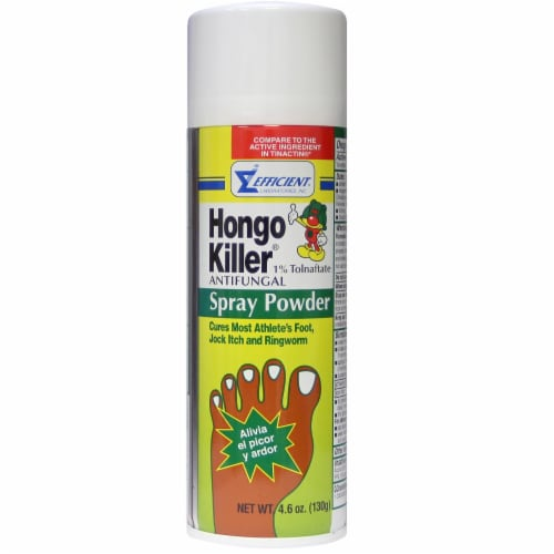 Hongo Killer Antifungal Foot Spray Powder Perspective: front