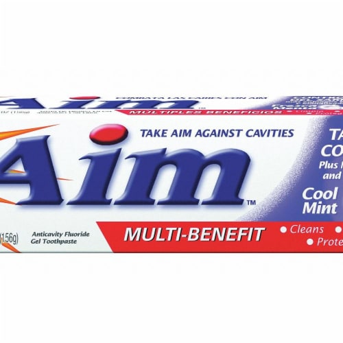 Aim Toothpaste,5.5 oz.,Mint,PK24 Perspective: front