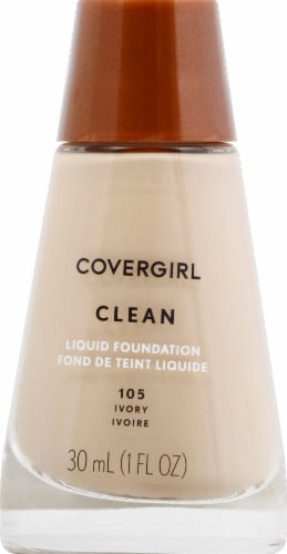 CoverGirl Clean Normal Skin 105 Ivory Foundation Perspective: front