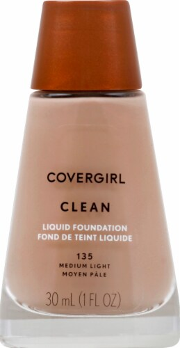CoverGirl Clean Normal Skin 135 Medium Light Foundation Perspective: front