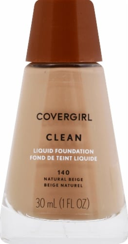 CoverGirl Clean Normal Skin 140 Natural Beige Foundation Perspective: front