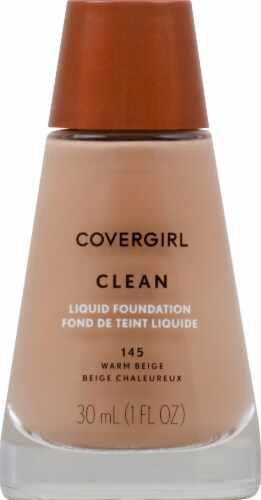 CoverGirl Clean Normal Skin 145 Warm Beige Foundation Perspective: front