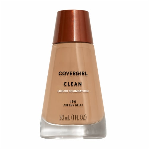 Cover Girl Clean Normal Skin 150 Creamy Beige Foundation Perspective: front