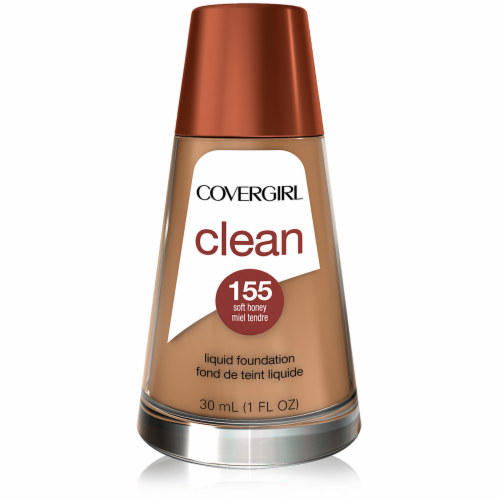 CoverGirl Clean Normal Skin 155 Soft Honey Foundation Perspective: front