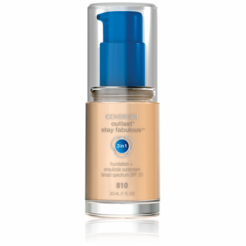 CoverGirl Outlast All Day Stay Fabulous 3-in-1 810 Classic Ivory Foundation SPF20 Perspective: front