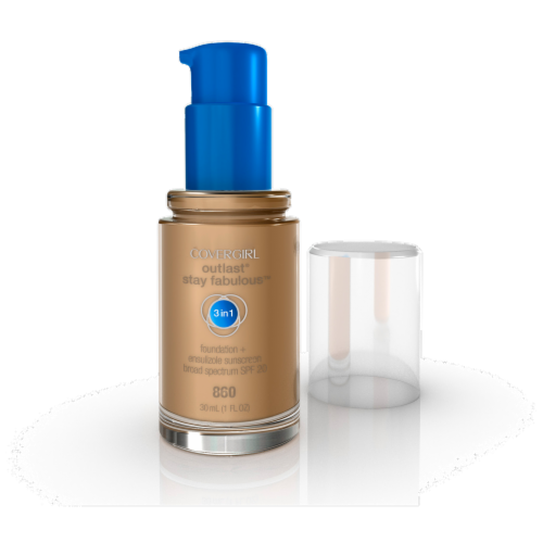 CoverGirl Outlast Stay Fabulous Classic Tan 3-In-1 Foundation Perspective: front