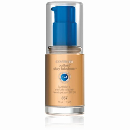 CoverGirl Outlast Stay Fabulous 3-in-1 Golden Tan Liquid Foundation Perspective: front