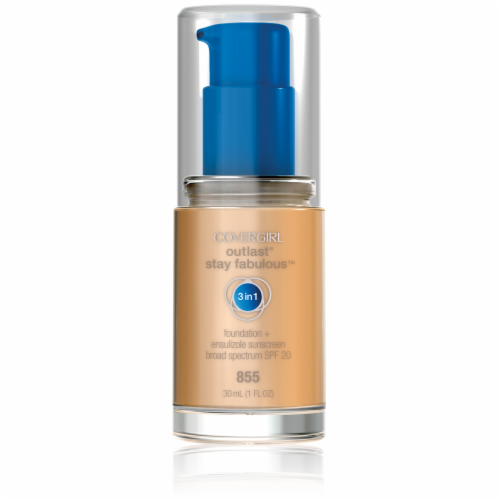 CoverGirl Outlast All Day Stay Fabulous 3-in-1 855 Soft Honey Foundation SPF 20 Perspective: front