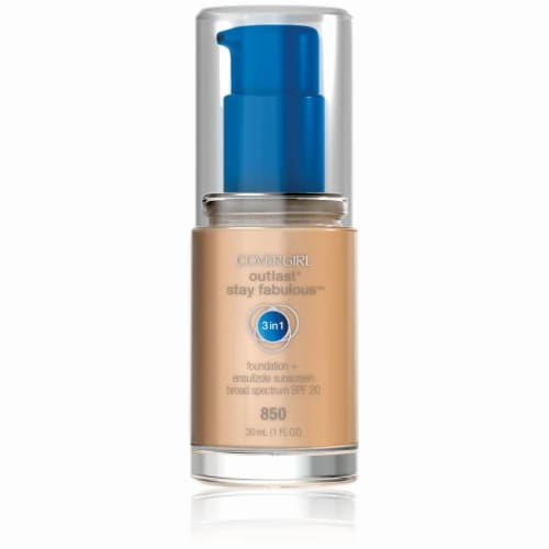 CoverGirl Outlast Stay Fabulous Creamy Beige Foundation Perspective: front