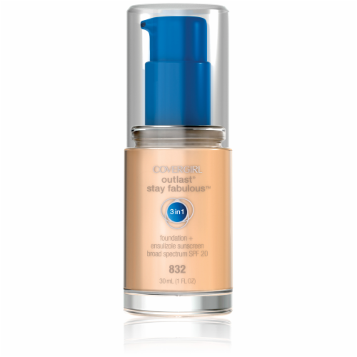 CoverGirl Outlast All Day Stay Fabulous 3-in-1 832 Nude Beige Foundation SPF20 Perspective: front