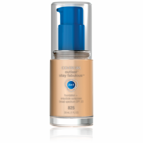 CoverGirl Outlast All Day Stay Fabulous 3-in-1 825 Buff Beige Foundation SPF 20 Perspective: front