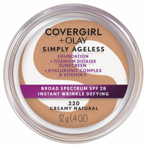 CoverGirl + Olay Simply Ageless 220 Creamy Natural Foundation Powder Perspective: front