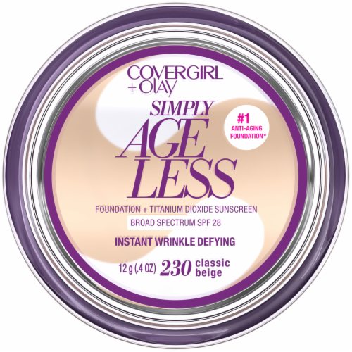CoverGirl + Olay Simply Ageless Classic Beige 230 Foundation Powder Perspective: front