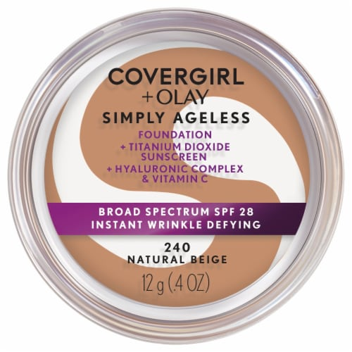 CoverGirl + Olay Simply Ageless 240 Natural Beige Foundation Powder Perspective: front