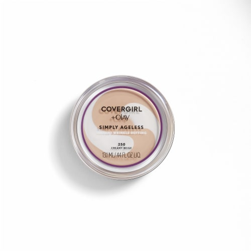 CoverGirl + Olay Simply Ageless 250 Creamy Beige Wrinkle Defying Foundation Perspective: front