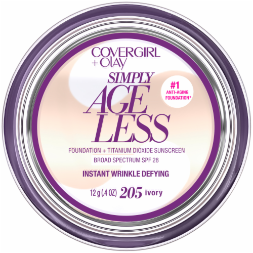 CoverGirl + Olay Simply Ageless 205 Ivory Foundation Powder Perspective: front
