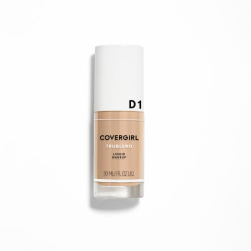 CoverGirl TruBlend D1 Creamy Beige Liquid Makeup Perspective: front