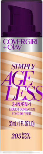 CoverGirl + Olay Simply Ageless 3-in-1 205 Ivory Liquid Foundation Perspective: front