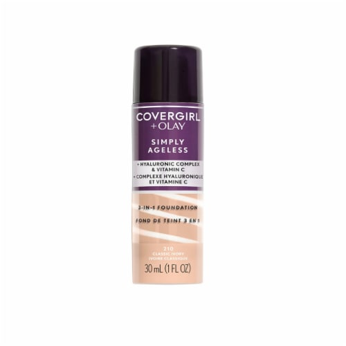 CoverGirl + Olay Simply Ageless 3-in-1 Classic Ivory Liquid Foundation Perspective: front