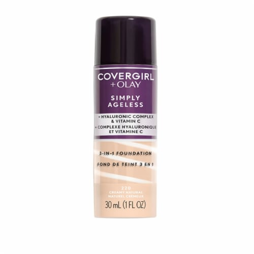 CoverGirl + Olay Simply Ageless 220 Creamy Natural 3-in-1 Liquid Foundation Perspective: front