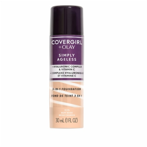 CoverGirl + Olay Simply Ageless 3-in-1 225 Buff Beige Liquid Foundation Perspective: front