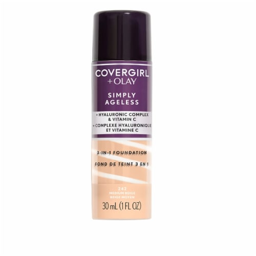 CoverGirl + Olay Simply Ageless 3-in-1 242 Medium Beige Liquid Foundation Perspective: front