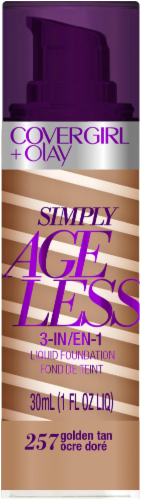 CoverGirl + Olay Simply Ageless 3-in-1 257 Golden Tan Foundation Perspective: front