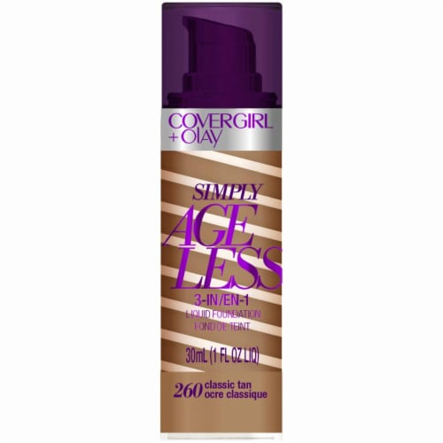 CoverGirl Simply Ageless 3-in-1 Classic Tan Foundation Perspective: front