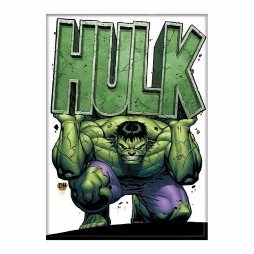 Ata-Boy Marvel Hulk Holding Name Magnet Perspective: front