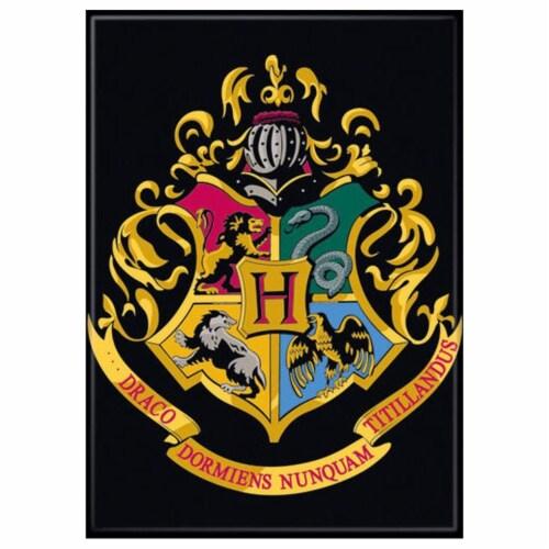 Ata-Boy Harry Potter Hogwarts Crest Magnet Perspective: front