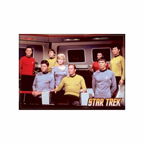 Ata-Boy Star Trek Cast On Bridge Magnet Perspective: front