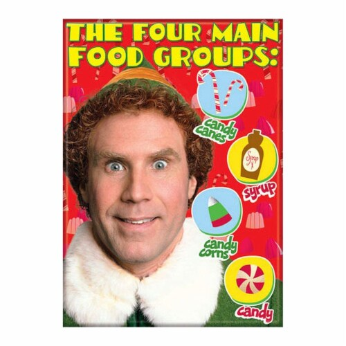 Ata-Boy Elf Four Main Food Groups Magnet Perspective: front