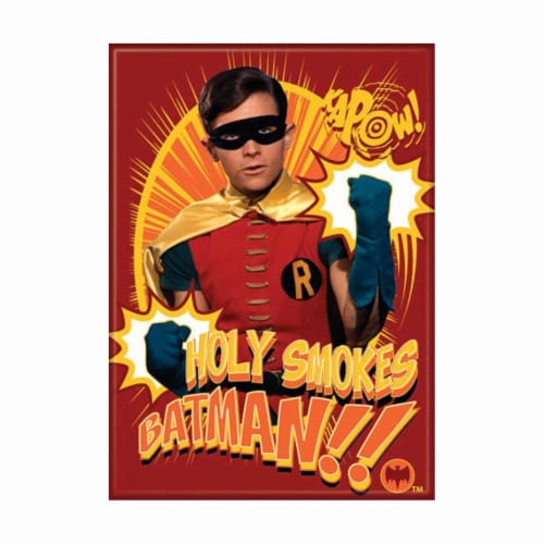 Ata-Boy Batman Kapow Robin Holy Smokes Magnet Perspective: front