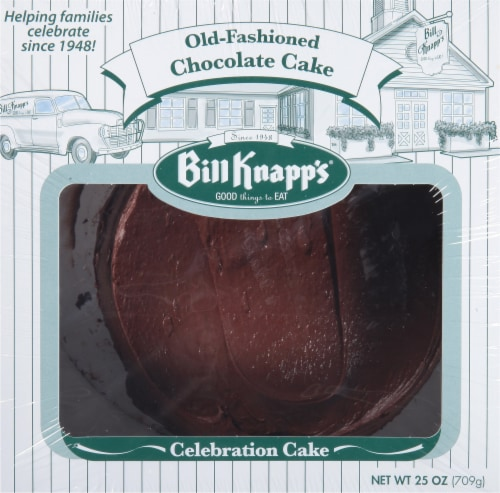 Bill Knapp's Classic Chocolate Celebration Cake Perspective: front