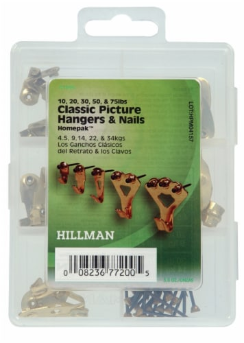Hillman Classic Picture Hangers and Nails Assortment Kit Perspective: front