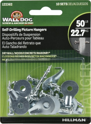 Hillman Wall Dog Self-Drilling Picture Hangers Perspective: front