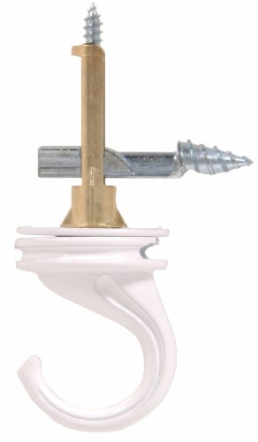 Hillman 40 Pound White Ceiling Drill Hook Perspective: front