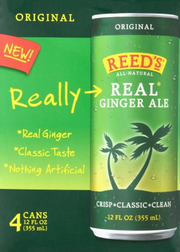 Reed's Original Real Ginger Ale Perspective: front