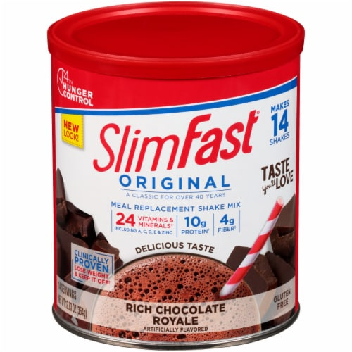 SlimFast Original Rich Chocolate Royale Meal Replacement Shake Mix Perspective: front