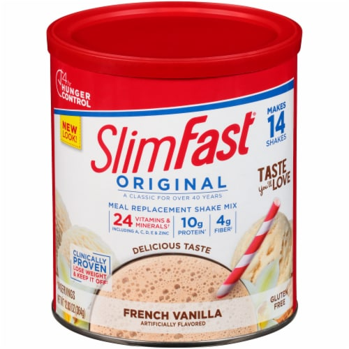 SlimFast Original French Vanilla Meal Replacement Shake Mix Perspective: front